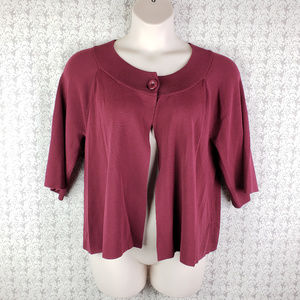 Womens Cranberry Red Color 3/4 Sleeve Sweater
